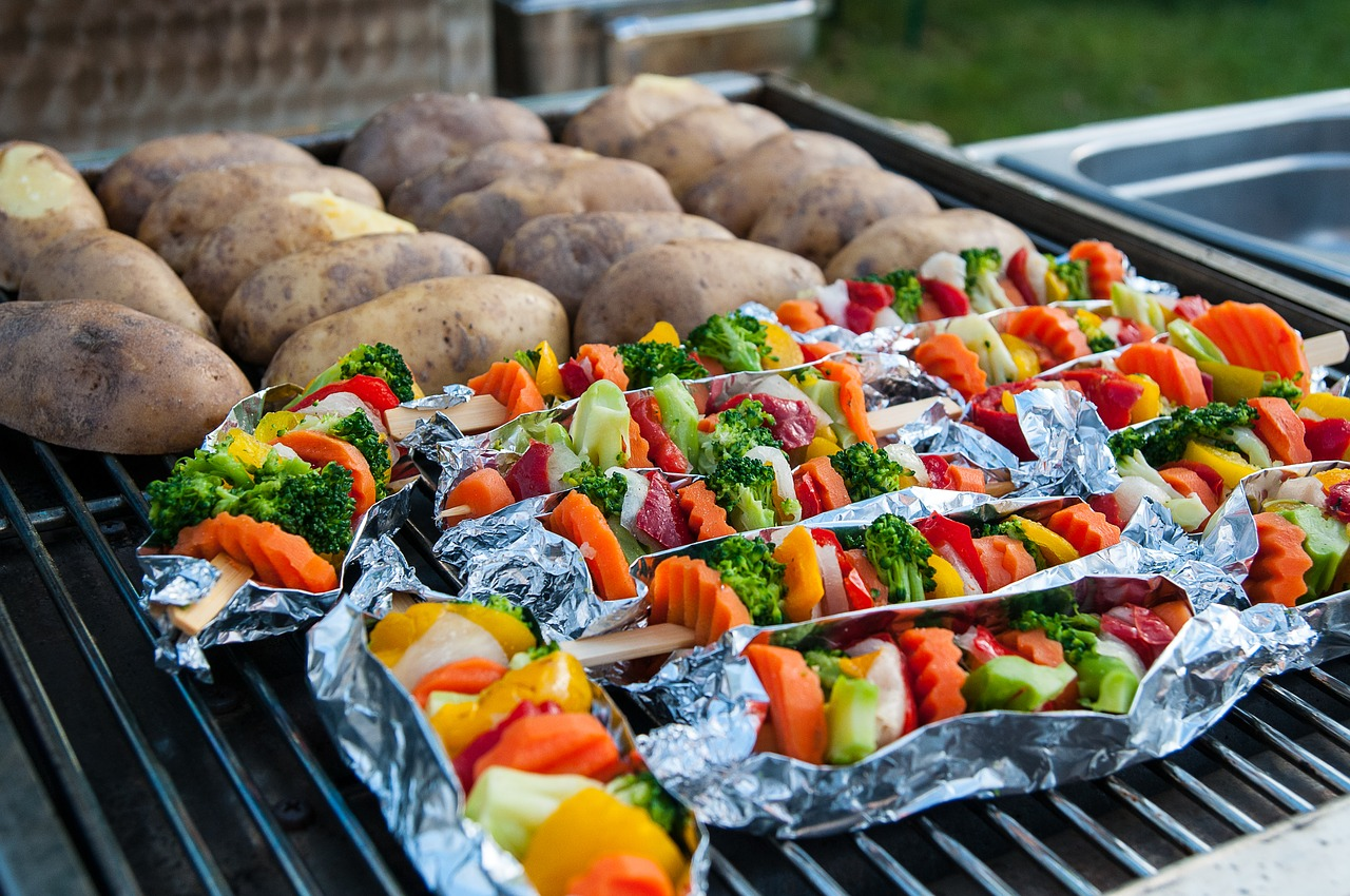 grilled veggies using the best grilling accessories