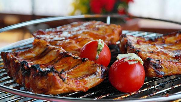 spare ribs grill bbq barbecue